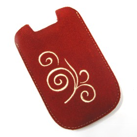 Wellcomm Pouch BlackBerry Case YFN - Red Flower 1