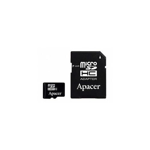 Apacer Memory Card Flash Card MicroSDHC 16GB Class 4 + Adapter