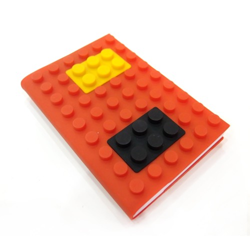 ROOM Playbricks Blank NoteBook - Orange