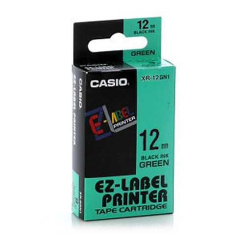 Casio Color Tape 12mm XR-12GN1 - Green