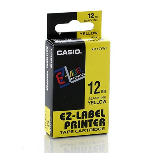 Casio Color Tape 12mm XR-12YW1 - Yellow