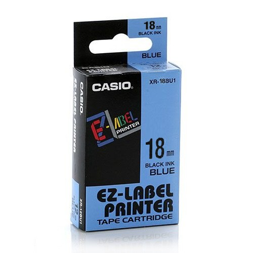 Casio Color Tape 18mm XR-18BU1 - Blue