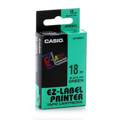 Casio Color Tape 18mm XR-18GN1 - Green