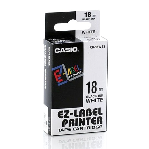 Casio Color Tape 18mm XR-18WE1 - White