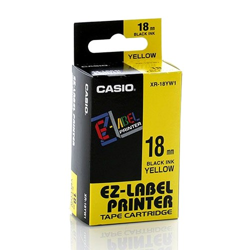 Casio Color Tape 18mm XR-18YW1 - Yellow
