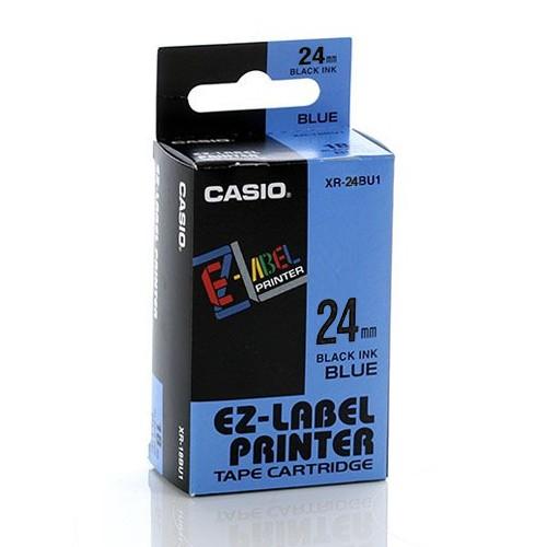 Casio Color Tape  24mm XR-24BU1- Blue