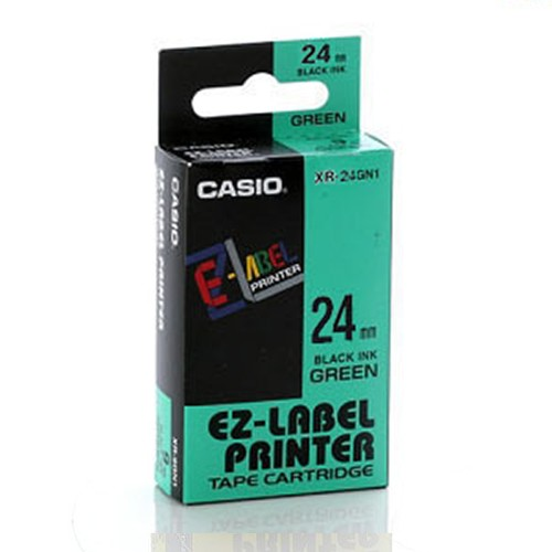 Casio Color Tape 24mm XR-24GN1 - Green