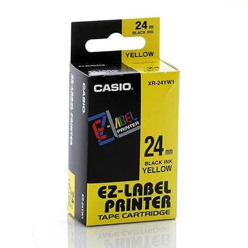 Casio Color Tape 24mm XR-24YW1 - Yellow