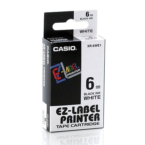 Casio Color Tape 6mm XR-6WE1 - White