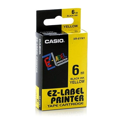 Casio Color Tape 6mm XR-6YW1 - Yellow