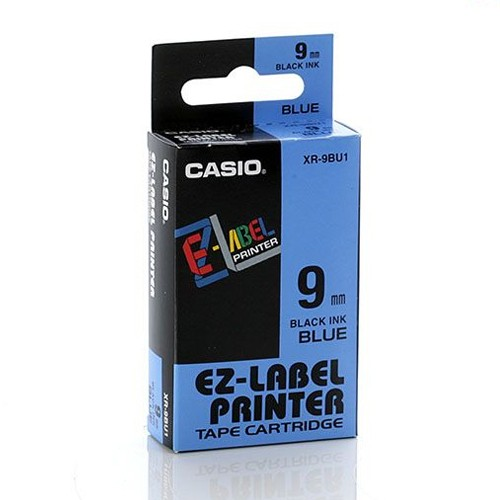 Casio Color Tape 9mm XR-9BU1 - Blue