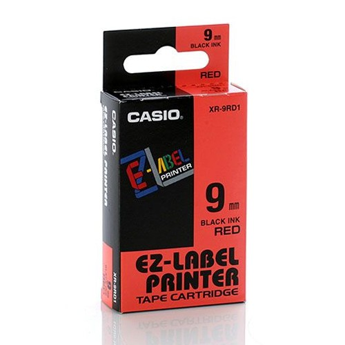 Casio Color Tape 9mm XR-9RD1 - Red