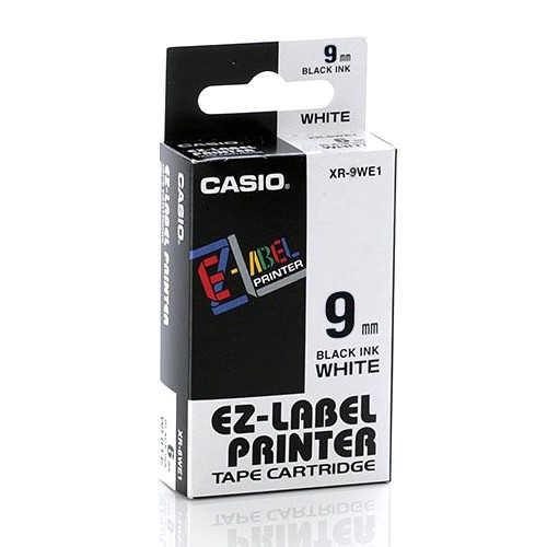 Casio Color Tape 9mm XR-9WE1 - White