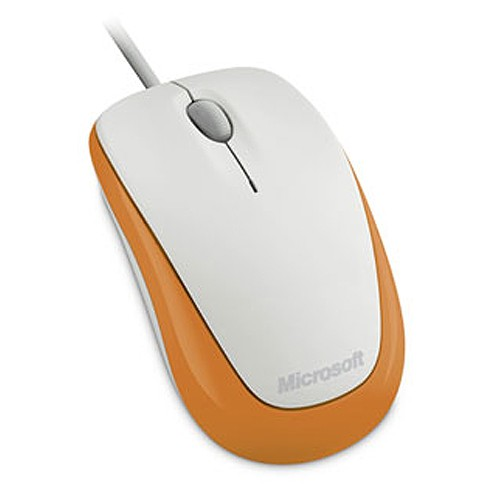 Microsoft Mouse Optical Compact 500 - White/Orange