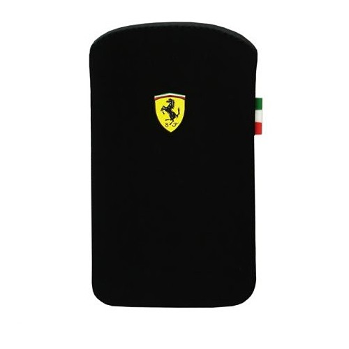 Ferrari Pouch F1 Nubuck V1 for iPhone 4 - Black