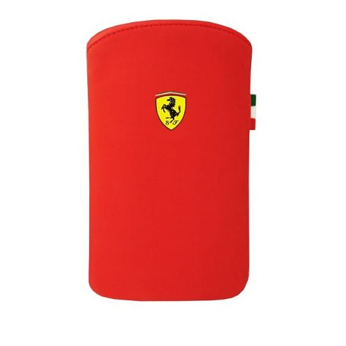 Ferrari Pouch F1 Nubuck V1 Case for iPhone 4 - Red