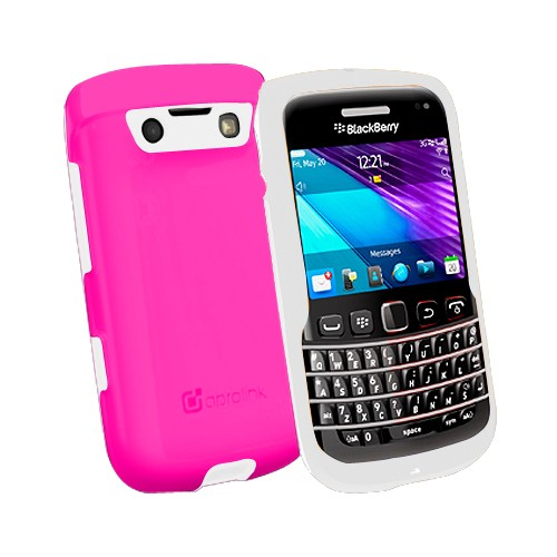 Aprolink Case Shell Dual Material for BlackBerry 9790 Bellagio - Pink/White