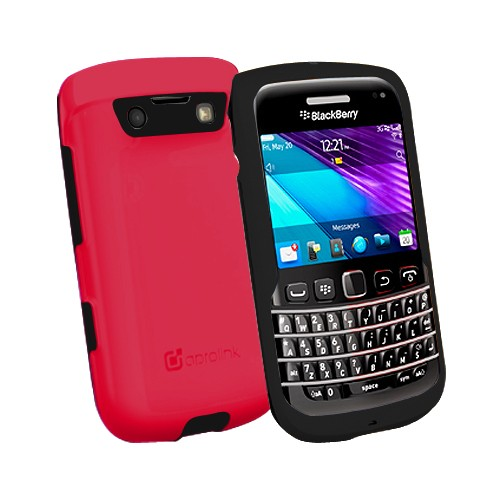 Aprolink Case Shell Dual Material for BlackBerry 9790 Bellagio - Red/Black