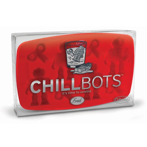 FRED Cetakan Es Batu - ChillBots Ice Cube Maker - Red