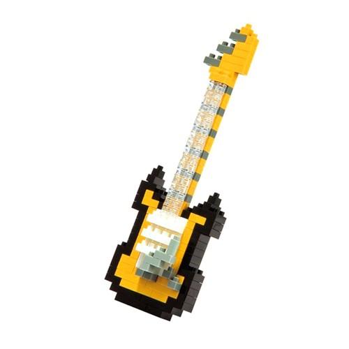 NanoBlock Electric Guitar NBC-023 - Black/Yellow