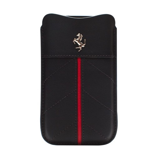 Ferrari California Pouch Leather Case for iPhone 4/4S - Black