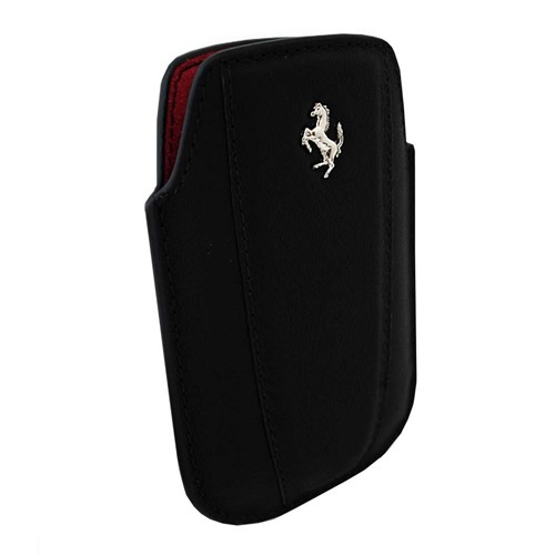 Ferrari Modena Pouch Leather Case for iPhone 4/4S - Black