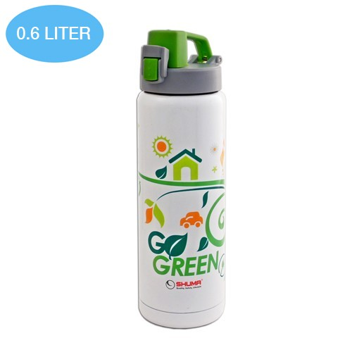 Shuma Vacuum Sport Bottle Gel SSP0600GEL 0.6 L - Green