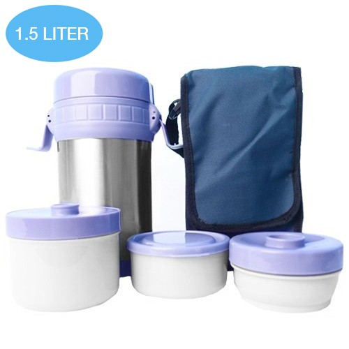 Shuma Vacuum Lunch Box (SHLB1500A) 1500 ml - Purple