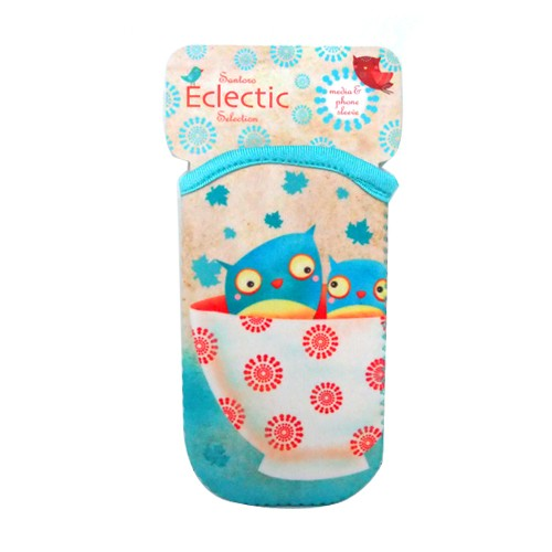 Santoro Eclectic Selection Media & Phone Sleeve - Owl