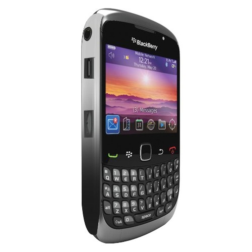 Cygnett Case Chromatic Metallic Slim for BlackBerry Curve 8520/8530/9300/9330 - Silver