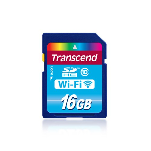 Transcend Memory Card Wi-Fi SD Card Class 10 - 16 GB