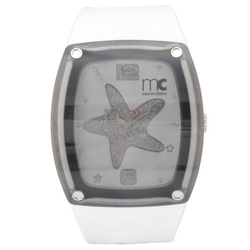 Marie Claire Watch MC2001- White / Transparent Black