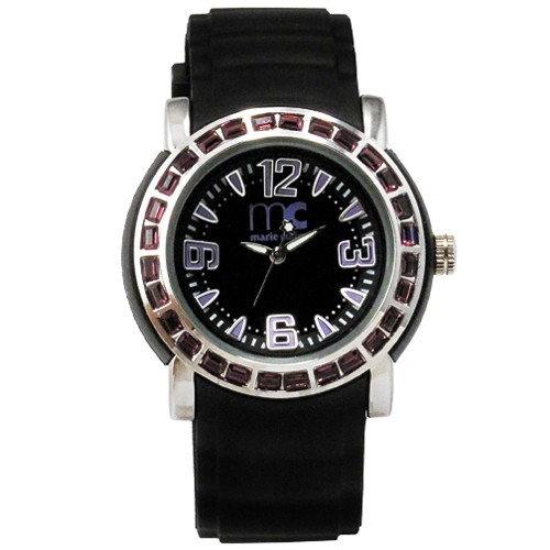 Marie Claire Watch MC3104 - Silver Case & Black Strap