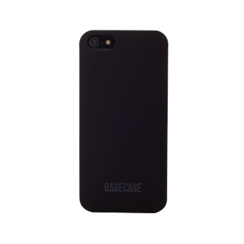 Basecase Protective Case for iPhone 5 - Black
