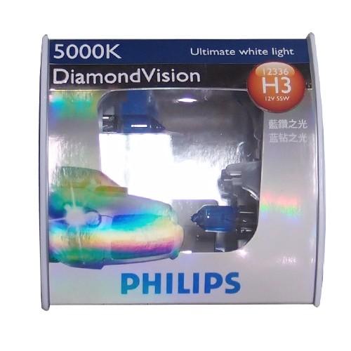 Philips Lampu Mobil - Diamond Vision (5000K) - H3