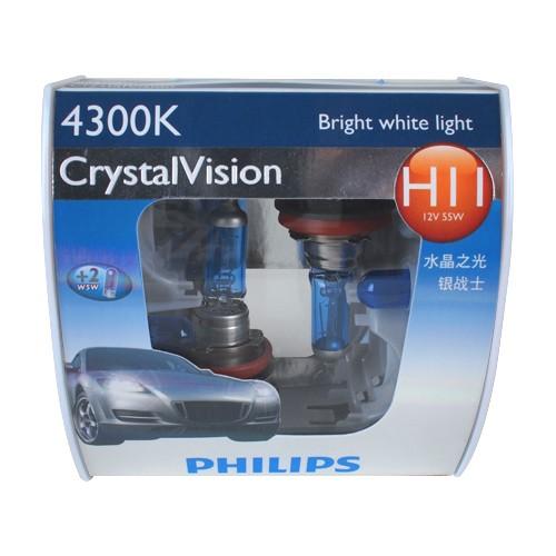 Philips Lampu Mobil  - Crystal Vision (4300K) - H11