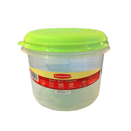 Rubbermaid Tempat Makanan Cylinder Container Summer (2.8 Liter) - Kiwi