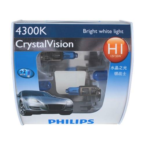 Lampu Mobil Philips - Crystal Vision (4300K) - H1
