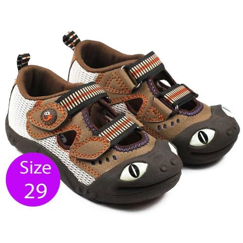 Sepatu Anak Polliwalks Lizard Size 29 - Dark Brown