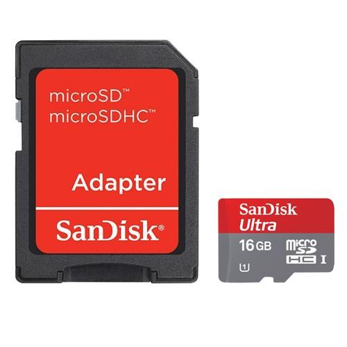 Memory Card Sandisk MicroSDHC Mobile Ultra Class 10 - 16 GB