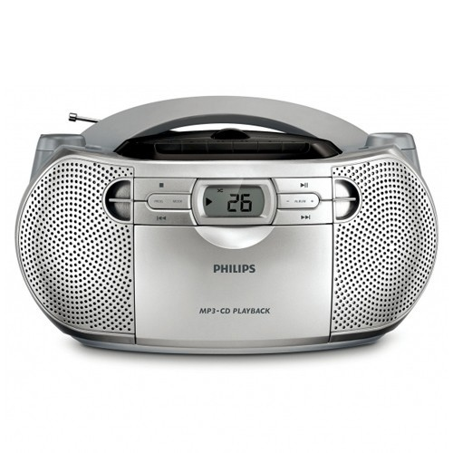 Philips Speaker BoomBox Portable AZ1047/98 - Silver