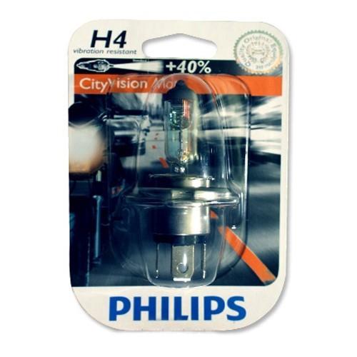 Philips Lampu Motor - CityVision Moto (40% Extra Light) - H4