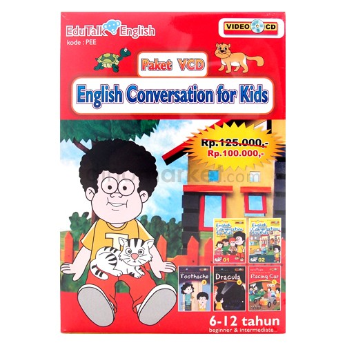 VCD Edukasi Edutalk - English Conversation for Kids