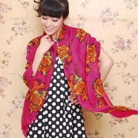 Scarf / Syal Fashion Red Ro