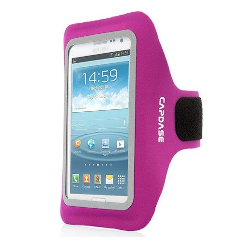 Capdase Case Sport Armband Zonic for Samsung Galaxy Note 3/S4 - Fucshia