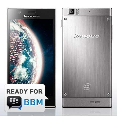 Lenovo K900 - Steel Grey | Android Jelly Bean (4.2), 5.5 inch, Intel Atom Dual Core, 16 GB, 13 MP