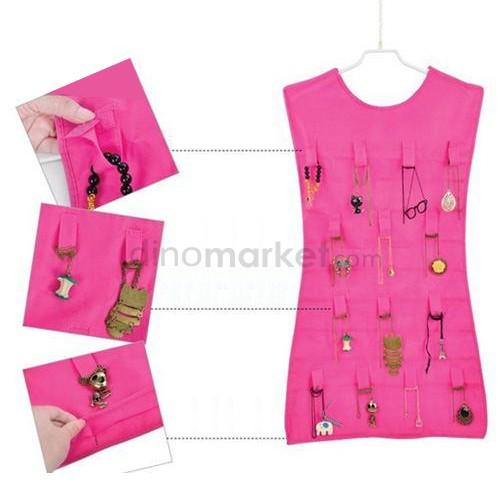 Organizer Hanger Perhiasan & Aksesoris - Pink