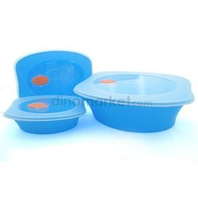 Kotak Makanan 3 in 1 - Blue