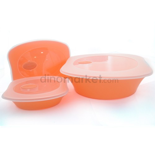 Kotak Makanan 3 in 1 - Orange
