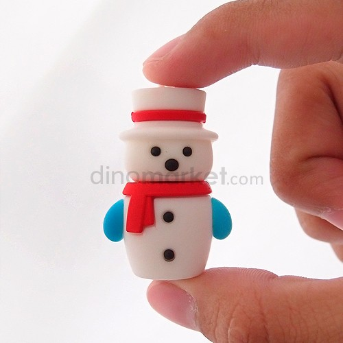 Flash Drive 8 GB Christmas - Snowman White Hat